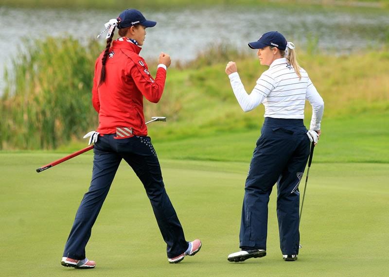 Michelle Wie and Cristie Kerr