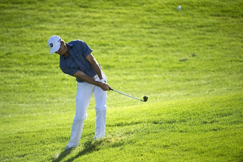 SAN MARTIN, CA - OCTOBER 14:  Will MacKenzie makes a shot out of the rough on the fifth hole during the first round of the Frys.com Open at the CordeValle Golf Club on October 14, 2010 in San Martin, California.  (Photo by Robert Laberge/Getty Images)