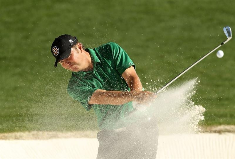 CHARLOTTE, NC - APRIL 30:  Bo Van Pelt hits from the sand on the 14th hole during the second round of the Quail Hollow Championship at Quail Hollow Country Club on April 30, 2010 in Charlotte, North Carolina.  (Photo by Streeter Lecka/Getty Images)
