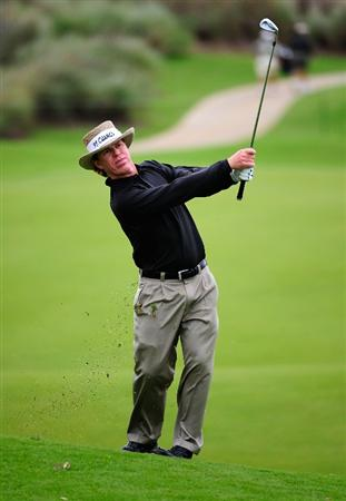 PALM COAST, FL - OCTOBER 31:  Briny Baird hits on the 18th hole during the second round of the Ginn sur Mer Classic at the Conservatory Golf Club on October 31, 2008 in Palm Coast, Florida.  (Photo by Sam Greenwood/Getty Images)