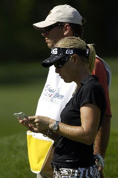 WILLIAMSBURG, VA - MAY 10:  Carin Koch of Sweden marks her scorecard after a birdie on the 15th green in Round 1 of the LPGA Michelob Ultra Open at Kingsmill on May 10, 2007, in Williamsburg, Virginia. (Photo by Jonathan Ernst/Getty Images)