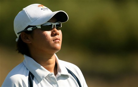 REUNION, FLORIDA - APRIL 19:  Yani Tseng of Taiwan walks to the third green during the third round of the Ginn Open at Reunion Resort April 19, 2008 in Reunion, Florida.  (Photo by Scott Halleran/Getty Images)