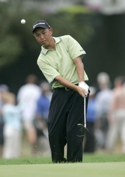 Toru Taniguchi during the second practice round of the 2005 PGA Championship at Baltusrol Golf Club in Springfield, New Jersey on August 9, 2005.Photo by Hunter Martin/WireImage.com