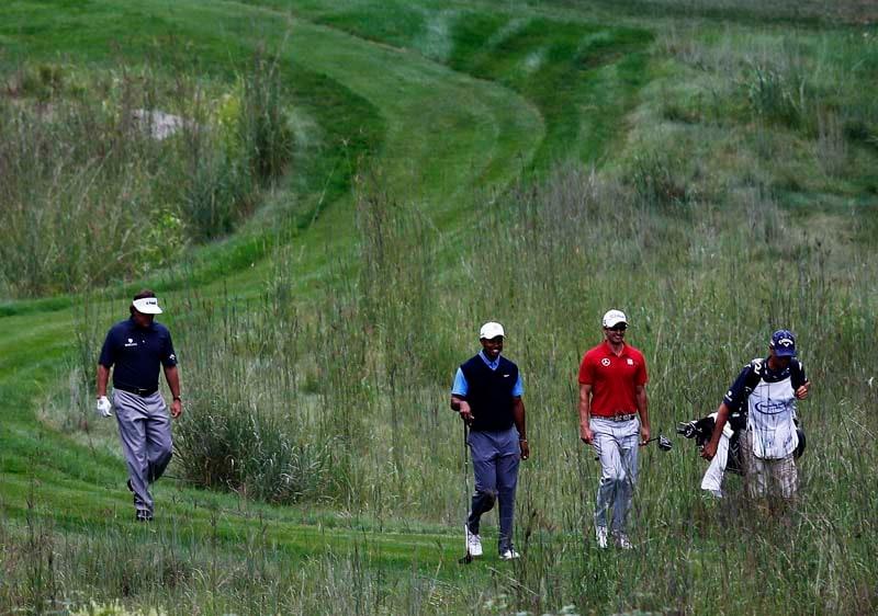 Phil Mickelson, Tiger Woods, Adam Scott