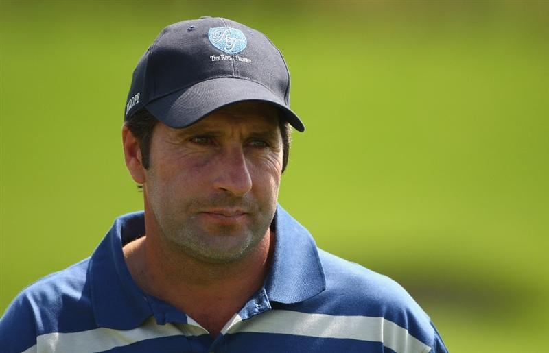 BANGKOK, THAILAND - JANUARY 09:  European Team Captain Jose Maria Olazabal looks on during the foursomes on Day one of The Royal Trophy at the Amata Spring Country Club on January 9, 2009 in Bangkok, Thailand.  (Photo by Ian Walton/Getty Images)