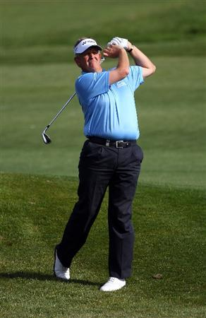 MALLORCA, SPAIN - MAY 12:  Colin Montgomerie of Scotland in action during day one of the Iberdrola Open at Pula Golf Club on May 12, 2011 in Mallorca, Spain.  (Photo by Julian Finney/Getty Images)