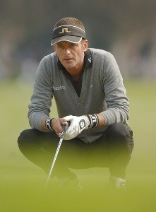 Jesper Parnevik lines up a putt during the final round of the PGA TOUR's 2006 Buick Invitational at Torrey Pines South in La Jolla, California January 29, 2006.Photo by Steve Grayson/WireImage.com
