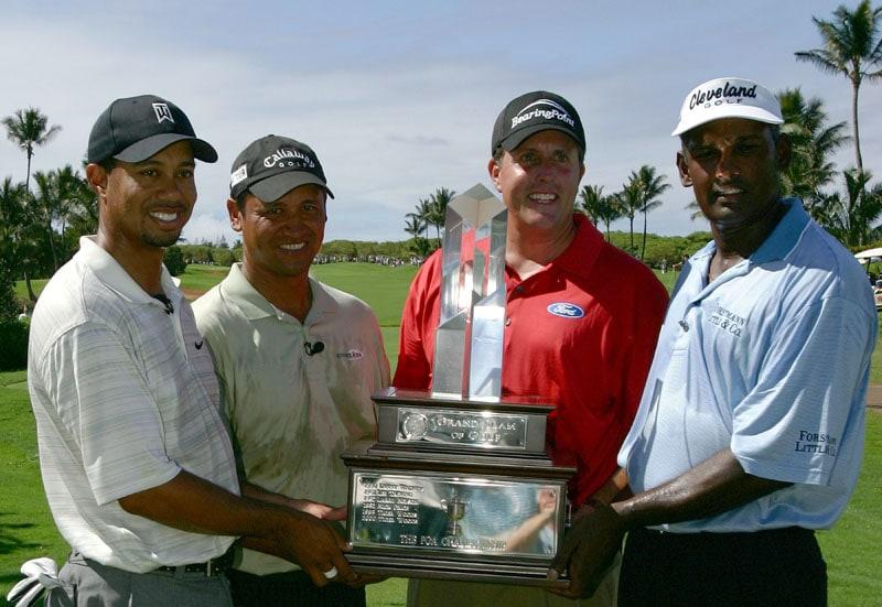 Tiger Woods, Michael Campbell, Phil Mickelson, Vijay Singh