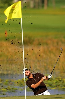 PALM BEACH GARDENS, FL - MARCH 1:  John Mallinger plays a shot on the 11th hole during the third round of the Honda Classic at PGA National Resort and Spa March 1, 2008 in Palm Beach Gardens, Florida.  (Photo by Sam Greenwood/Getty Images)