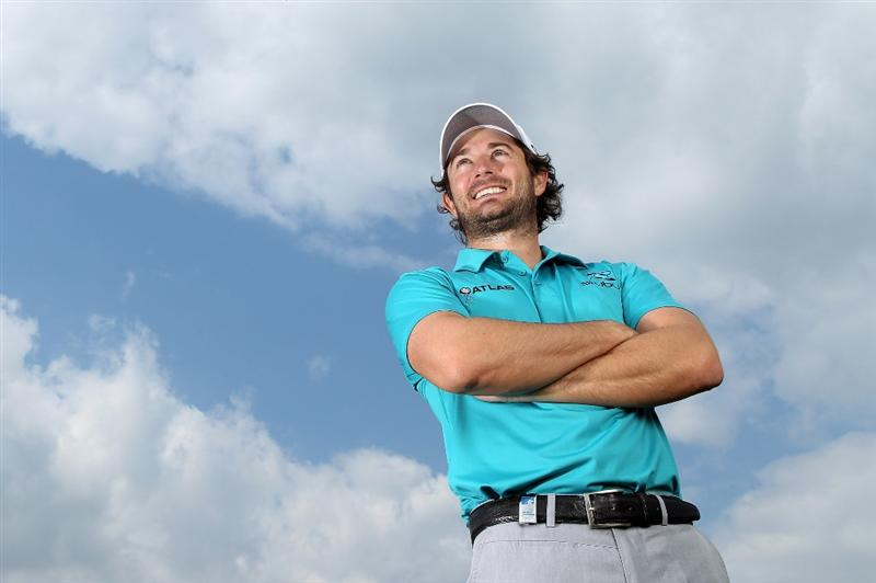 VIRGINIA WATER, ENGLAND - MAY 18:  Gareth Maybin of Northern Ireland poses for a portrait prior to the BMW PGA Championship on the West Course at Wentworth on May 18, 2010 in Virginia Water, England.  (Photo by Warren Little/Getty Images)