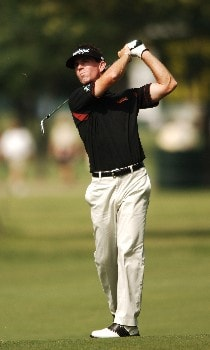 Skip Kendall hits from the third fairway during the second round of the 2005 Bank of America Colonial at Colonial Country Club in Forth Worth, Texas May 20, 2005.Photo by Steve Grayson/WireImage.com