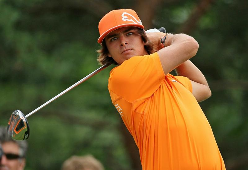 DUBLIN, OH - JUNE 06:  Rickie Fowler hits his tee shot on the second hole during the final round of The Memorial Tournament presented by Morgan Stanley at Muirfield Village Golf Club on June 6, 2010 in Dublin, Ohio.  (Photo by Andy Lyons/Getty Images)