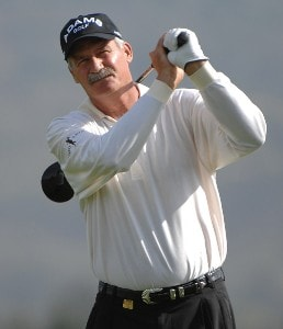 R.W. Eaks tees off the 3rd hole during the second round of the Charles Schwab  Cup Championship on October 26, 2007 at the Sonoma Golf Club in Sonoma, California Champions Tour - 2007 Charles Schwab Cup Championship - Second RoundPhoto by Marc Feldman/WireImage.com