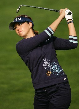 HUIXQUILUCAN, MEXICO - MARCH 12:  Stacy Prammanasudh hits her approach shot on the fifth hole during completion of the final round of the MasterCard Classic at Bosque Real Country Club on March 12, 2007 in Huixquilucan, Mexico.  (Photo by Scott Halleran/Getty Images)