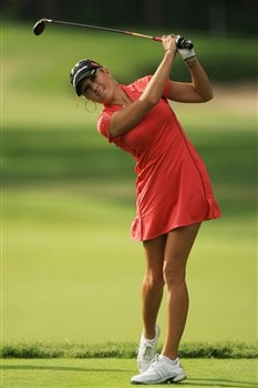 EDINA, MN - JUNE 25:  Natalie Gulbis hits a shot during a practice round prior to the 2008 U.S. Women's Open at Interlachen Country Club on June 25, 2008 in Edina, Minnesota.  (Photo by Travis Lindquist/Getty Images)