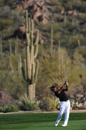 MARANA, AZ - FEBRUARY 20:  Thongchai Jaidee of Thailand plays a shot on the seventh hole during round four of the Accenture Match Play Championship at the Ritz-Carlton Golf Club on February 20, 2010 in Marana, Arizona.  (Photo by Stuart Franklin/Getty Images)