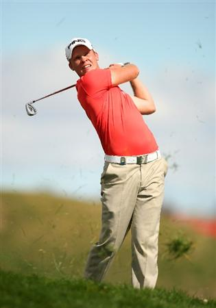 MADRID, SPAIN - OCTOBER 11:  Danny Willett of England in action during the Final Round of the Madrid Masters at Cantro Nacional De Golf on October 9, 2009 in Madrid, Spain.  (Photo by Ian Walton/Getty Images)