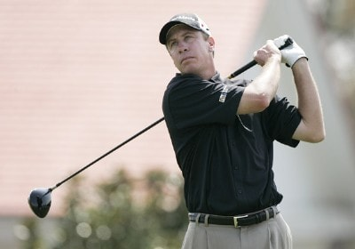 Todd Fischer during the final round of the BellSouth Classic at TPC Sugarloaf in Duluth, Georgia, on April 2, 2006.Photo by: Stan Badz/Wireimage