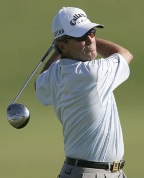 David Eger in action during the second round of the 2005 3M Championship at the TPC of the Twin Cities in Blaine, Minnesota on August 6, 2005.Photo by Gregory Shamus/WireImage.com