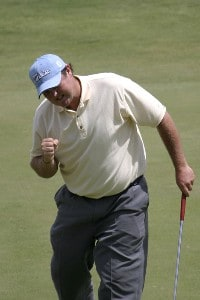 Jarrod Lyle of Australia during the final round of the Jacob's Creek Open Championship, February 19, 2006, held at Royal Adelaide Golf Club, Adelaide, Australia.Photo by Jamie McDonald/WireImage.com