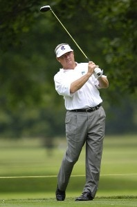 Bobby Wadkins during the first round of the Commerce Bank Championship on the Red Course at Eisenhower Park in East Meadow, New York, on June 23, 2006.Photo by Steve Levin/WireImage.com