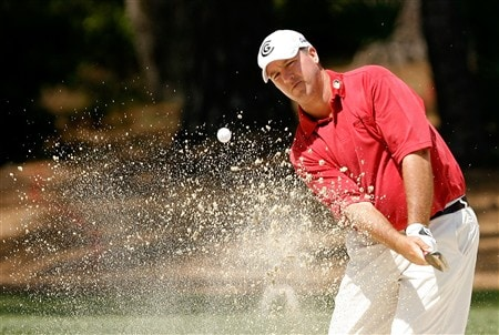 HILTON HEAD, SC - APRIL 20:  Boo Weekley hits from the sand on the 3rd hole during the final round of the Verizon Heritage at Harbour Town Golf Links on April 20, 2008 in Hilton Head, South Carolina.  (Photo by Streeter Lecka/Getty Images)
