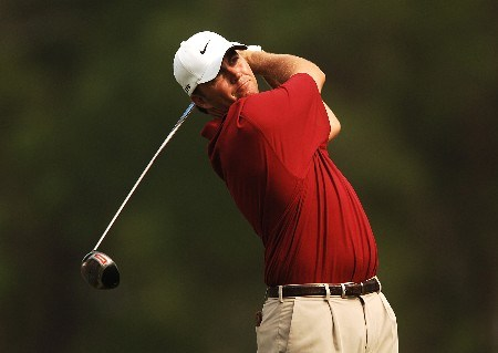 Bo Van Pelt hits from the 12th tee during the first round of the 2005 Shell Houston Open at the Redstone Golf Club in Houston, Texas April 21, 2005.Photo by Steve Grayson/WireImage.com