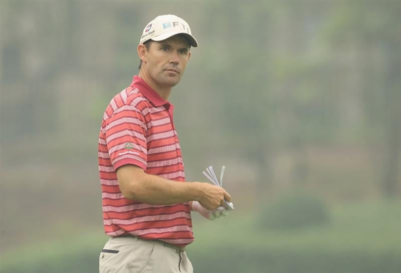 CHENGDU, CHINA - APRIL 21:  Padraig Harrington of Ireland looks on during first round of the Volvo China Open at Luxehills Country Club on April 21, 2011 in Chengdu, China.  (Photo by Ian Walton/Getty Images)
