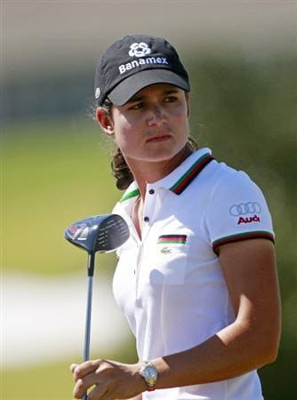 PRATTVILLE, AL - OCTOBER 3:  Lorena Ochoa of Mexico watches her drive from the third tee during third round play in the Navistar LPGA Classic at the Robert Trent Jones Golf Trail at Capitol Hill on October 3, 2009 in  Prattville, Alabama.  (Photo by Dave Martin/Getty Images)