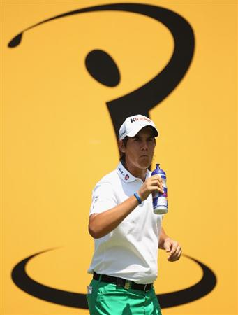 KUALA LUMPUR, MALAYSIA - APRIL 17:  Matteo Manassero of Italy has a drink during the fourth round of the Maybank Malaysian Open at Kuala Lumpur Golf & Country Club on April 17, 2011 in Kuala Lumpur, Malaysia.  (Photo by Ian Walton/Getty Images)