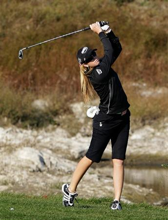 INCHEON, SOUTH KOREA - OCTOBER 29:  Paula Creamer of United States on the 16th hole during the 2010 LPGA Hana Bank Championship at Sky 72 golf club on October 29, 2010 in Incheon, South Korea.  (Photo by Chung Sung-Jun/Getty Images)