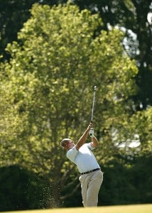Nicholas Thompson plays his second shot from the 16th fairway during the third round of the 2007 Athens Regional Foundation Classic Saturday, April 21, 2007, at the Jennings Mill Country Club in Bogart, Georgia. Nationwide Tour - 2007 Athens Regional Foundation Classic - Third RoundPhoto by Kevin C.  Cox/WireImage.com