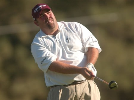 Kevin Stadler hits from the 17th tee during the final round of The 2005 INTERNATIONAL at Castle Pines Country Club in Castle Rock, Colorado August 7, 2005.Photo by Steve Grayson/WireImage.com