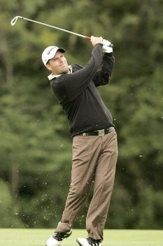 Kenneth Ferrie follows his shot during the final round of the 2005 Smurfit European Open on the Palmer Course at the K Club,  July 3, 2005.Photo by Pete Fontaine/WireImage.com