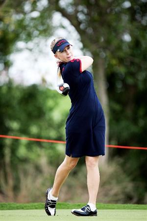 BANGKOK, THAILAND - FEBRUARY 27:  Morgan Pressel of the USA in action on the 4th hole during day two of the Honda LPGA Thailand 2009 at Siam Country Club Plantation on February 27, 2009 in Pattaya, Chonburi, Thailand.  (Photo by Chumsak Kanoknan/Getty Images)