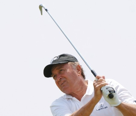 Raymond Floyd  drives from the 12th  tee  during the second round of the 2005 Blue Angels Class  May 14 in Milton, Fl.Photo by Al Messerschmidt/WireImage.com