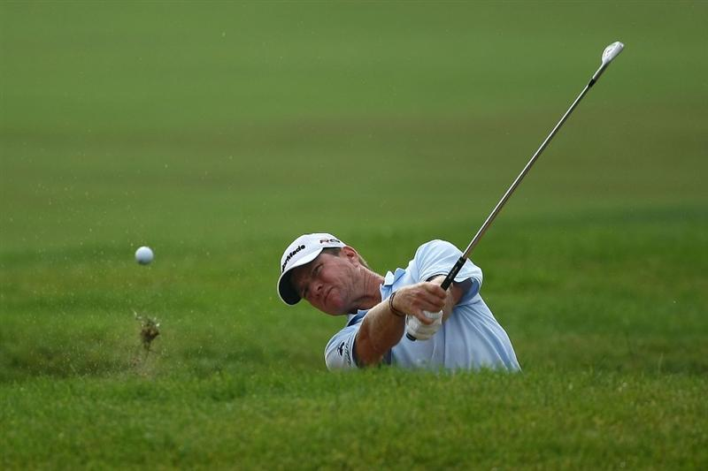 OAKVILLE, ONTARIO - JULY 23:  Scott Verplank plays his second shot on the 18th hole during round one of the RBC Canadian Open at Glen Abbey Golf Club on July 23, 2009 in Oakville, Ontario, Canada.  (Photo by Chris McGrath/Getty Images)