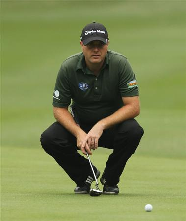 HONG KONG - NOVEMBER 18: Graeme Storm of England concentrates on the 8th hole during the first round of the USB Hong Kong Open at The Hong Kong Golf Club  on November 18, 2010 in Hong Kong, Hong Kong.  (Photo by Stanley Chou/Getty Images)