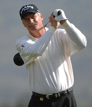 SONOMA, CA - OCTOBER 26:  R.W. Eaks tees off the 3rd hole during the second round of the Charles Schwab  Cup Championship on October 26, 2007 at the Sonoma Golf Club in Sonoma, California  (Photo by Marc Feldman/Getty Images)