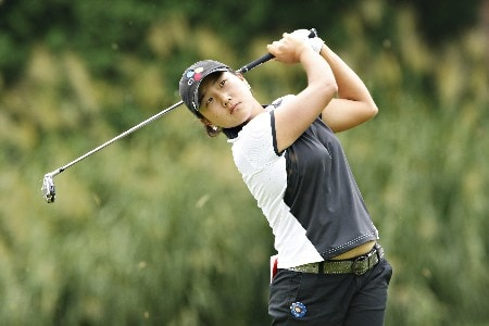 ROGERS, ARKANSAS - SEPTEMBER 7:  Hwa Seon Lee tees off the sixth hole during the first round of the 2007 LPGA NW Arkansas Championship presented by John Q. Hammons at Pinnacle Country Club on September 7, 2007 in Rogers, Arkansas. (Photo by Wesley Hitt/Getty Images)