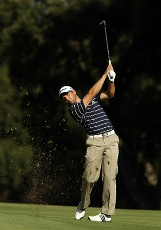 SOTOGRANDE, SPAIN - OCTOBER 28:  Sergio Garcia of Spain plays into the 14th green during the first round of the Andalucia Valderrama Masters at Club de Golf Valderrama on October 28, 2010 in Sotogrande, Spain.  (Photo by Richard Heathcote/Getty Images)