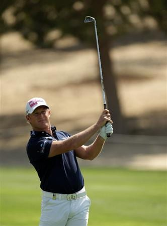 DUBAI, UNITED ARAB EMIRATES - FEBRUARY 12:  Jamie Donaldson of Wales during the third round of the Omega Dubai Desert Classic on the Majlis course at the Emirates Golf Club on February 12, 2011 in Dubai, United Arab Emirates.  (Photo by Ross Kinnaird/Getty Images)