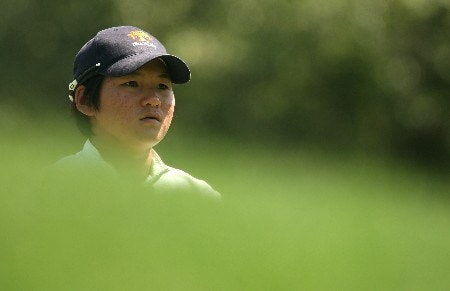 HUIXQUILUCAN, MEXICO - MARCH 15:  Yani Tseng of Taiwan waits on the 11th hole during the second round of the MasterCard Classic at Bosque Real Country Club on March 15, 2008 in Huixquilucan, Mexico.  (Photo by Scott Halleran/Getty Images)
