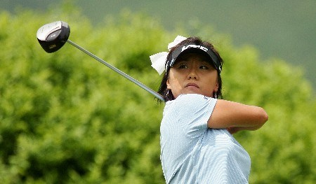 CORNING, NY - MAY 26:  Mi Hyun Kim of South Korea hits her tee shot on the second hole during the third round of the Corning Classic at the Corning Country Club on May 26, 2007 in Corning, New York.  (Photo by Kyle Auclair/Getty Images)