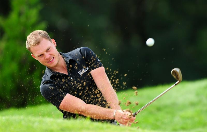 VIENNA, AUSTRIA - SEPTEMBER 15:  Danny Willett of England plays a shot during the pro - am prior to the Austrain golf open presented by Botarin at the Diamond country club on September 15, 2010 in Atzenbrugg near Vienna, Austria.  (Photo by Stuart Franklin/Getty Images)