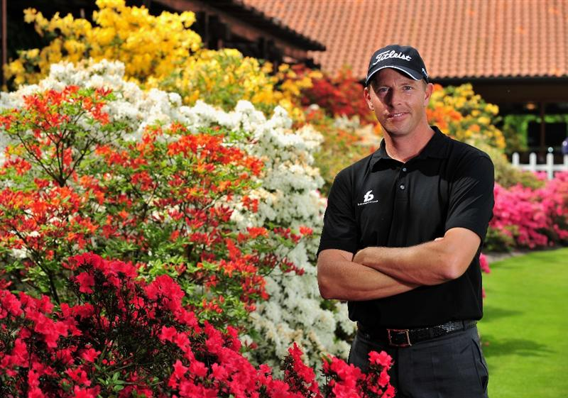 TURIN, ITALY - MAY 06:  Soren Hansen of Denmark poses for a picture during the pro - am of the BMW Italian Open at Royal Park I Roveri on May 6, 2009 near Turin, Italy.  (Photo by Stuart Franklin/Getty Images)