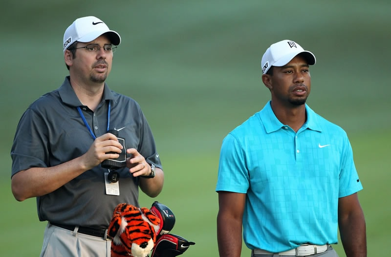 Bryon Bell and Tiger Woods