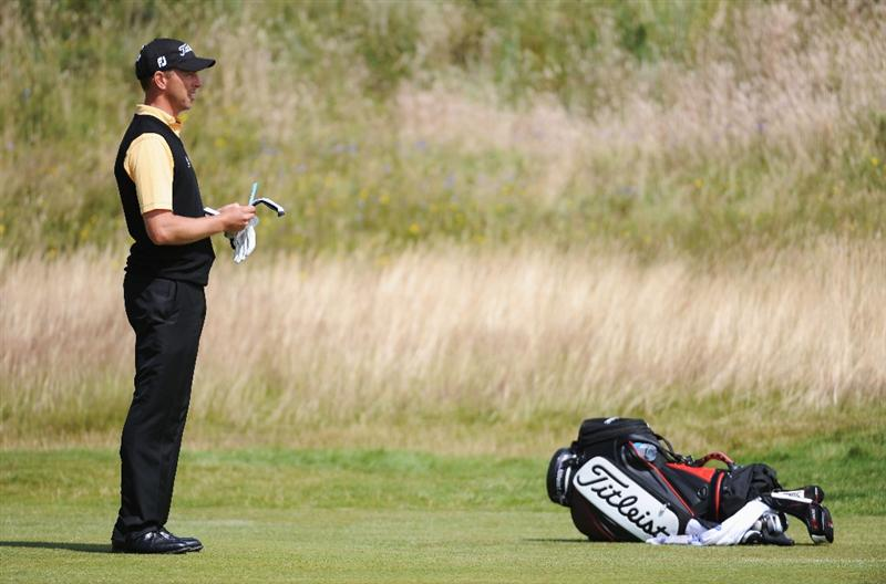 TURNBERRY, SCOTLAND - JULY 19:  Soren Hansen of Denmark waits to hit a shot during the final round of the 138th Open Championship on the Ailsa Course, Turnberry Golf Club on July 19, 2009 in Turnberry, Scotland.  (Photo by Harry How/Getty Images)