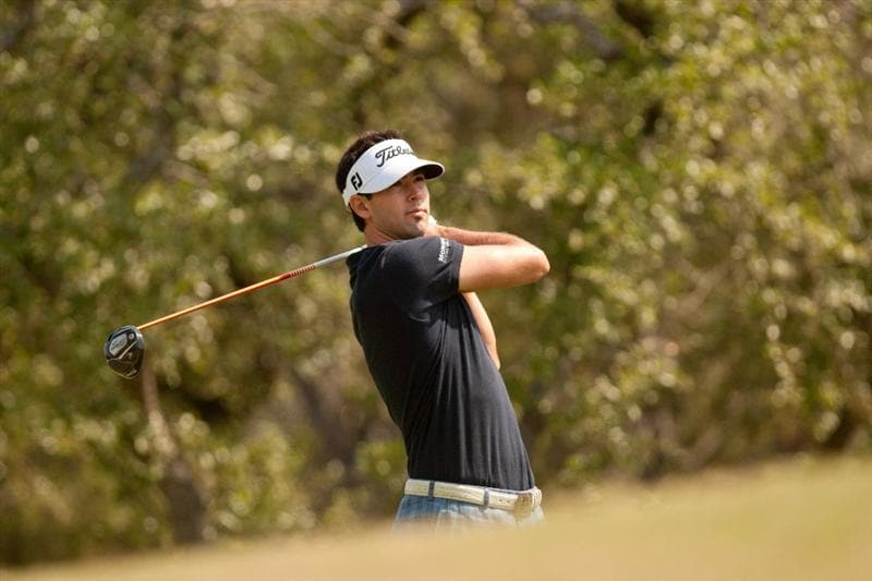SAN ANTONIO, TX - APRIL 17: Cameron Tringale follows through on a tee shot during the final round of the Valero Texas Open at the AT&T Oaks Course at TPC San Antonio on April 17, 2011 in San Antonio, Texas. (Photo by Darren Carroll/Getty Images)
