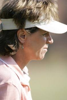 Rosie Jones waits for her tee shot during the first round at the Chick-fil-A Charity Championship, May 12, 2005, at Eagles Landing Country Club, in Stockbridge, GA.Photo by Rex Brown/WireImage.com